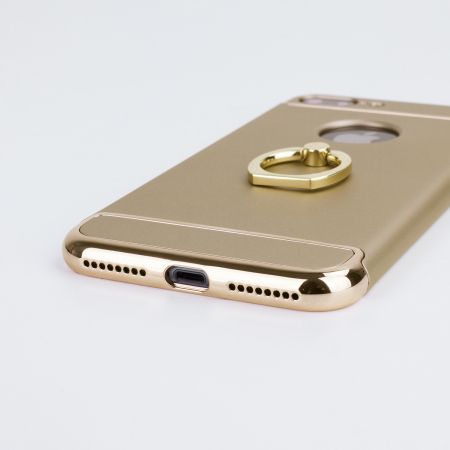 olixar xring iphone 8 plus / 7 plus finger loop case - gold