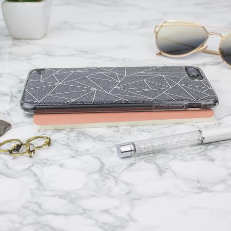 lovecases shine bright like a diamond iphone 8 plus case - black