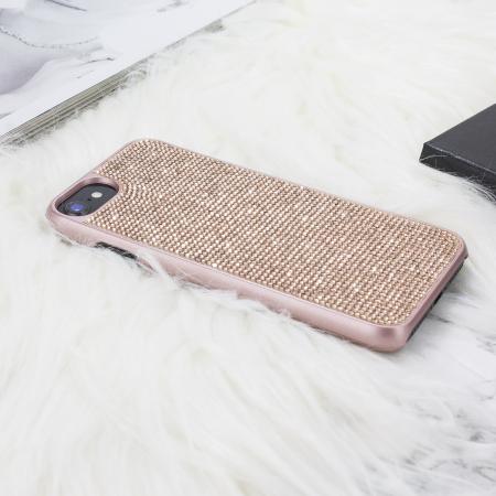 LoveCases Luxuriöse Kristall iPhone 8 / 7 / 6S / 6 Hülle - Rosen Gold