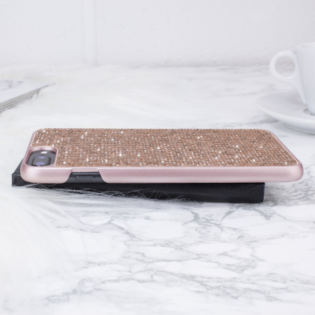 lovecases luxury crystal iphone 8 plus / 7 plus case - rose gold .
