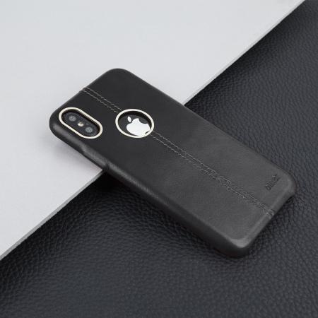 Housse iphone x olixar premium en cuir v ritable noire for Housse iphone x