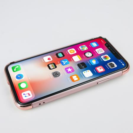 olixar xring iphone x finger loop case - rose gold