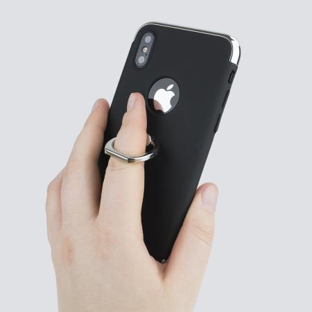 olixar xring iphone x finger loop case - black
