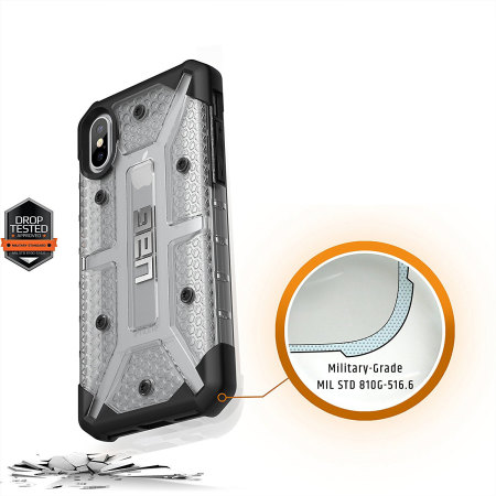 uag plasma iphone x protective case - ice