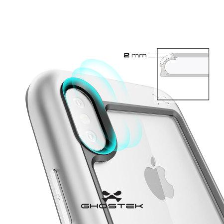 meet 520fe 5cec1 Ghostek Atomic Slim iPhone X Tough Case - Silver