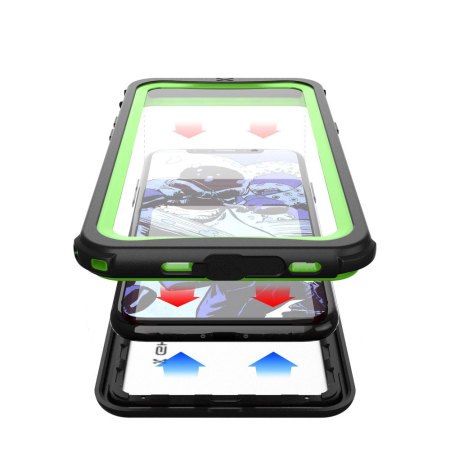 ghostek nautical series iphone x waterproof case - green