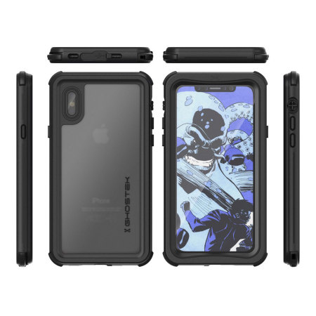 hot sale online a4e1f f65de Ghostek Nautical Series iPhone X Waterproof Case - Black