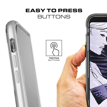 Ghostek Cloak 3 iPhone X Tough Case - Clear / Silver