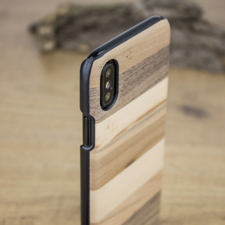 man&wood iphone x wooden case - sabbia