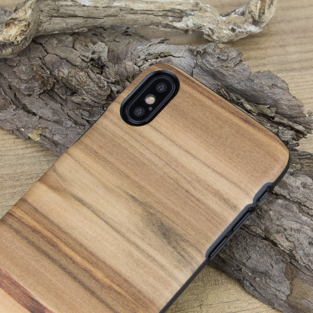 Man&Wood iPhone X Wooden Case - Cappuccino