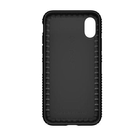speck presidio grip iphone x tough case - black
