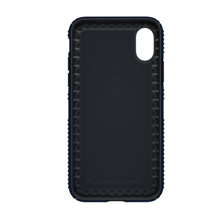 speck presidio grip iphone x tough case - eclipse blue / carbon black