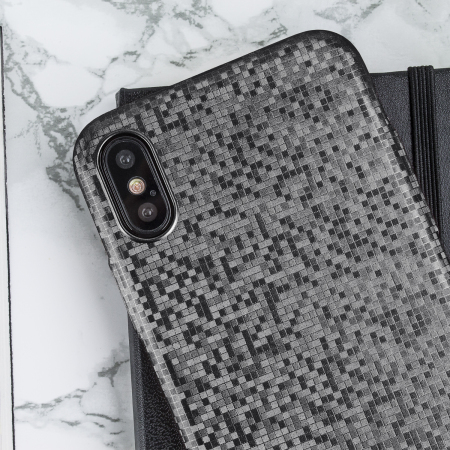 lovecases check yo self iphone x case - sparkling black
