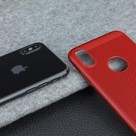 olixar meshtex iphone x case - brazen red
