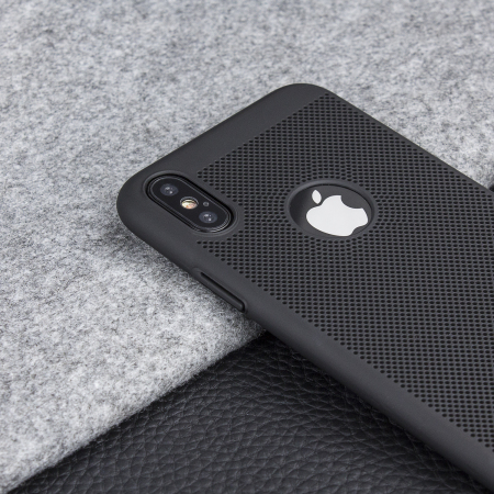 Coque iPhone X Olixar MeshTex – Noir tactique