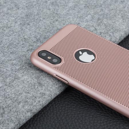 Olixar MeshTex iPhone X Case - Rose Gold