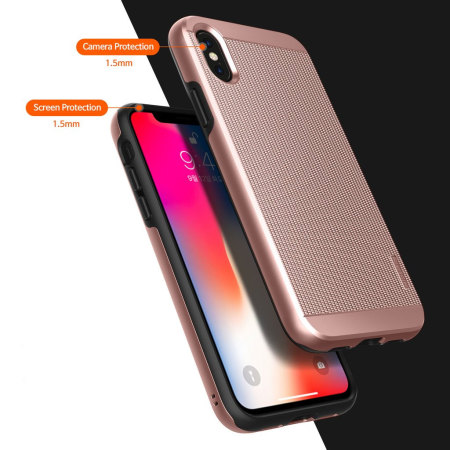 obliq slim meta iphone x case - rose gold