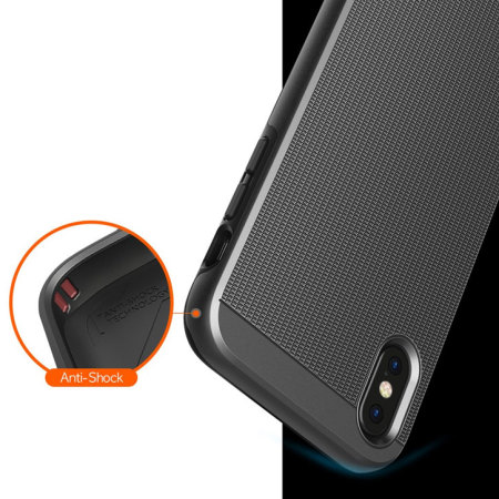 obliq slim meta iphone x case - titanium black