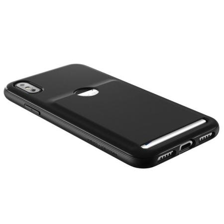 vrs design damda fit iphone x case - black
