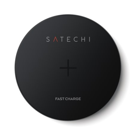 Satechi Portable Universal Qi Fast Wireless Charging Pad - Space Grey