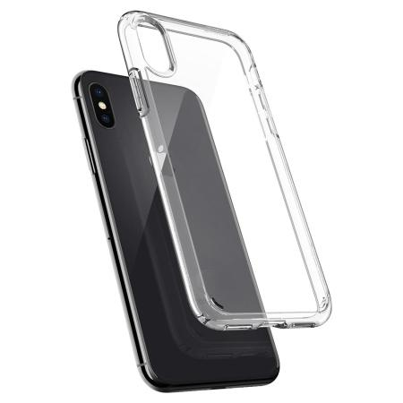 spigen ultra hybrid iphone x case - crystal clear