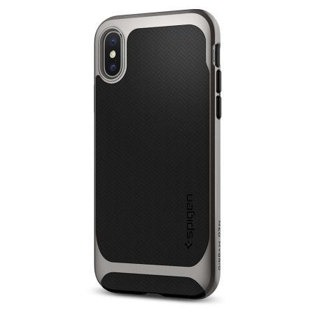 Spigen Neo Hybrid Case iPhone X Plus Hülle- Gunmetal