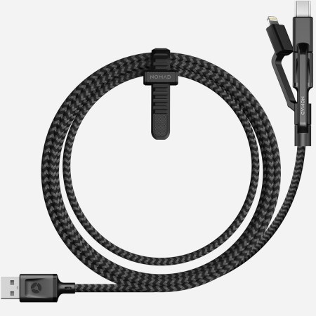 Nomad Universal 3-in-1 USB-C, Lightning & Micro USB Cable