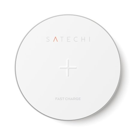 Satechi Portable Universal Qi Fast Wireless Charging Pad - Silver