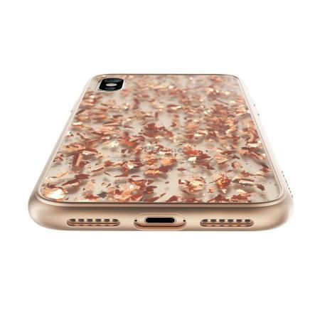 prodigee scene treasure iphone x case - rose gold