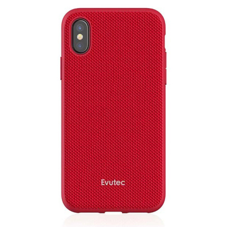 evutec aergo ballistic nylon iphone x tough case & vent mount - red