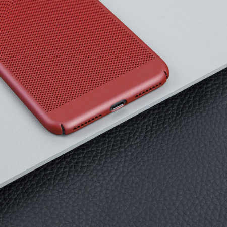 olixar meshtex iphone 7 plus case - brazen red