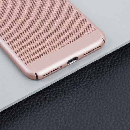 olixar meshtex iphone 7 plus case - rose gold