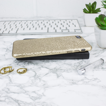 LoveCases Check Yo Self iPhone 8 Plus / 7 Plus Case - Shimmering Gold