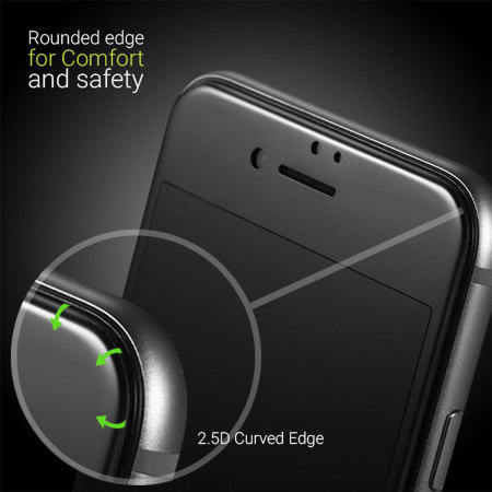 Olixar iPhone 8 Plus Edge to Edge Glass Screen Protector - Black