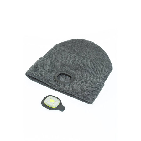 Echo Three Bright i-Beanie Hat with Rechargeable LED Headlamp Light