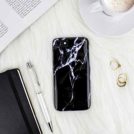 LoveCases Marble iPhone 8 / 7 Case - Black