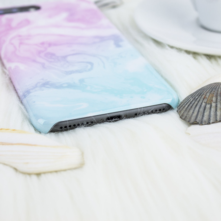 lovecases marble iphone 8 plus / 7 plus case - dream pink