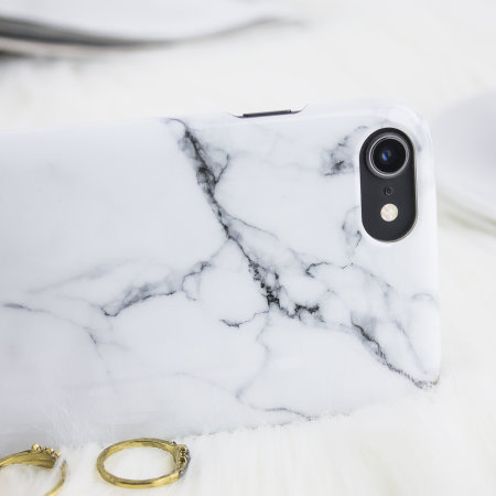 lovecases marble iphone 8 / 7 case - classic white