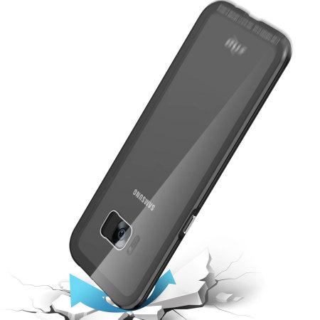 Zizo Atom Samsung Galaxy Note 8 Case & Glass Screen Protector - Black