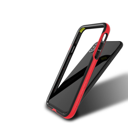 best cheap 781c3 85d65 Patchworks Level Silhouette iPhone X Bumper Case - Red