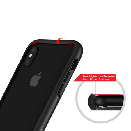 patchworks level silhouette iphone x bumper case - black