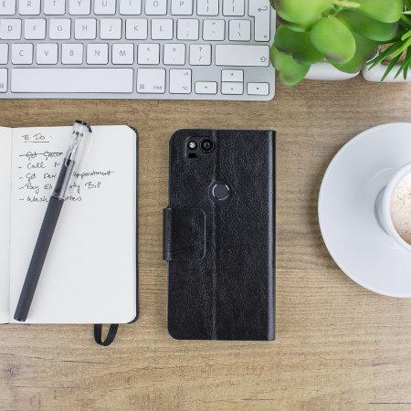 Olixar Leather-Style Google Pixel 2 Wallet Case - Black