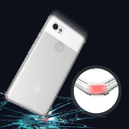 Olixar ExoShield Tough Snap-on Google Pixel 2 XL Case  - Crystal Clear