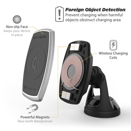 Scosche MagicMount Charge Magnetic Car Holder & Qi Wireless Charger