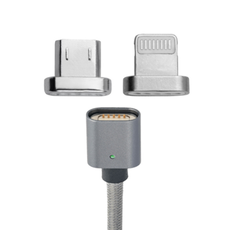 4smarts GRAVITYCord Magnetic Lightning And microUSB Tips - Twin Pack