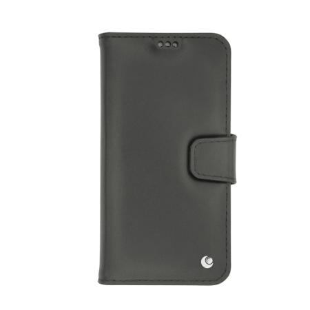 Noreve Tradition B iPhone X Lederen Portemonnee Hoesje - Zwart