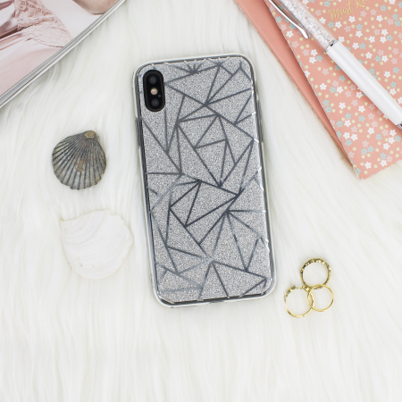 lovecases shine bright like a diamond iphone x case - silver