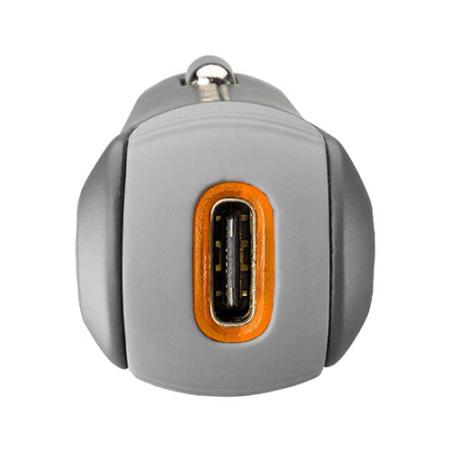 Ventev Dashport PD1300 USB Type-C Car Charger- Grey