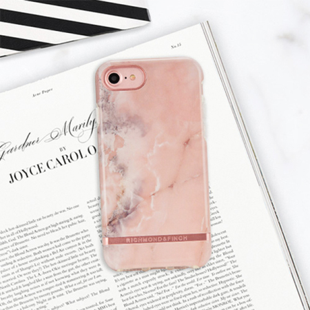richmond & finch pink marble iphone x case - rose gold