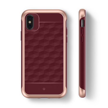 caseology parallax series iphone x case - burgundy